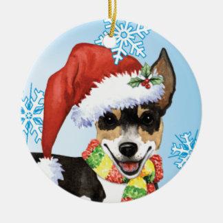 Glückliche Howlidays Ratte Terrier Keramik Ornament