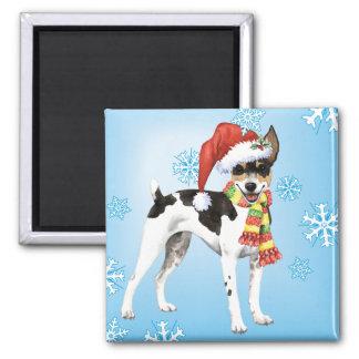 Glückliche Howlidays Ratte Terrier Quadratischer Magnet