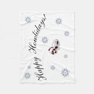 Glückliche Howlidays Weihnachtsdecke Fleecedecke
