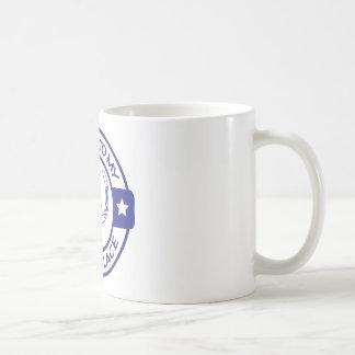 Glückliche Hufeisen des Platzes A258 blau Kaffeetasse