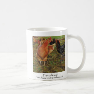 Glückliche Hühner Kaffeetasse