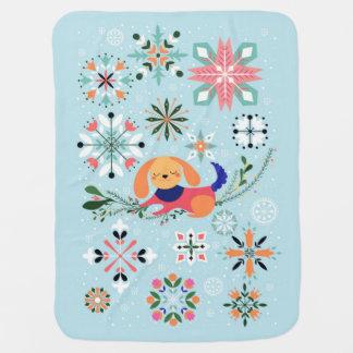 Glückliche Hundebaby-Decke Babydecke