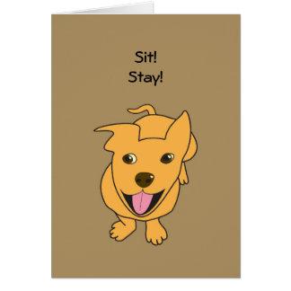 Glückliche Hundegeburtstags-Karte Karte