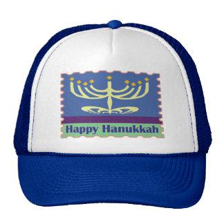Glückliche Hüte Chanukkas Menorah Baseball Mützen