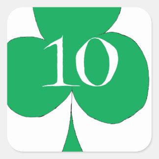 Glückliche Iren 10 der Vereine, tony fernandes Quadratischer Aufkleber