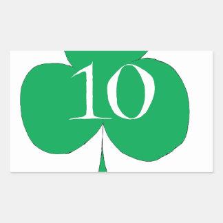 Glückliche Iren 10 der Vereine, tony fernandes Rechteckiger Aufkleber