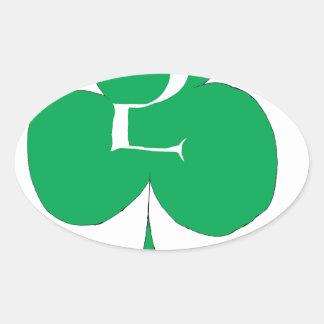 Glückliche Iren 2 der Vereine, tony fernandes Ovaler Aufkleber