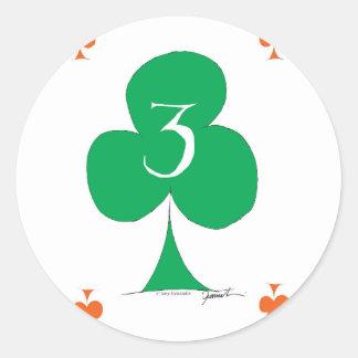 Glückliche Iren 3 der Vereine, tony fernandes Runder Aufkleber