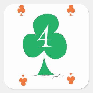 Glückliche Iren 4 der Vereine, tony fernandes Quadratischer Aufkleber
