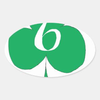 Glückliche Iren 6 der Vereine, tony fernandes Ovaler Aufkleber