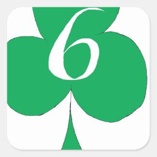 Glückliche Iren 6 der Vereine, tony fernandes Quadratischer Aufkleber