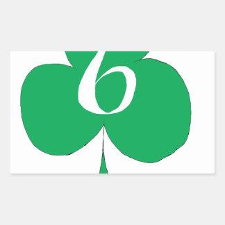Glückliche Iren 6 der Vereine, tony fernandes Rechteckiger Aufkleber