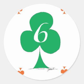 Glückliche Iren 6 der Vereine, tony fernandes Runder Aufkleber