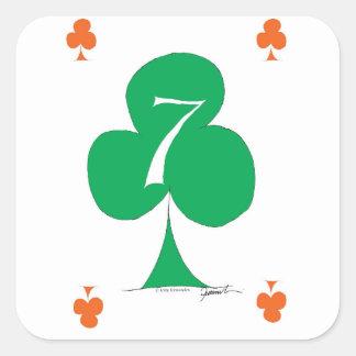 Glückliche Iren 7 der Vereine, tony fernandes Quadratischer Aufkleber