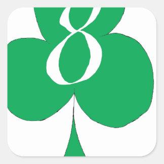 Glückliche Iren 8 der Vereine, tony fernandes Quadratischer Aufkleber