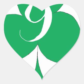Glückliche Iren 9 der Vereine, tony fernandes Herz-Aufkleber
