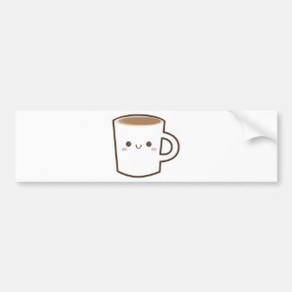 Glückliche Kaffeetasse Autoaufkleber