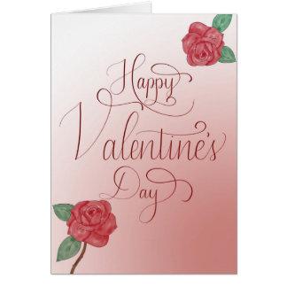 Glückliche Karte des Valentines Tages, übergeben