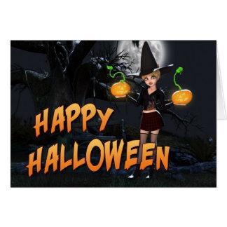 Glückliche Karte Halloweens Skye