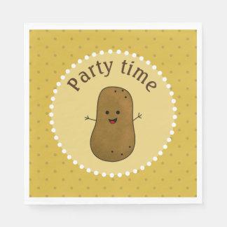 Glückliche Kartoffel-Party-Zeit Serviette