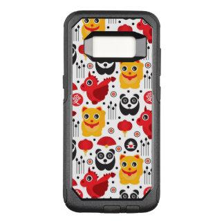 Glückliche Katze, Drache und Panda der China OtterBox Commuter Samsung Galaxy S8 Hülle