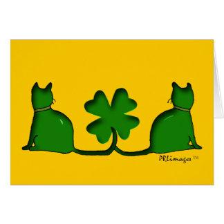 Glückliche Katzen Karte