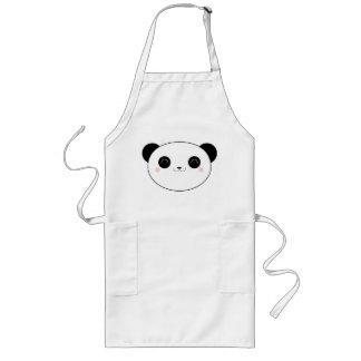 Glückliche Kawaii Panda-Bärn-Schürze Lange Schürze