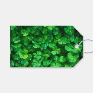 Glückliche keltische irische grüne Kleeblätter Geschenkanhänger