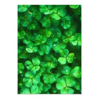 Glückliche keltische irische grüne Kleeblätter Magnetische Karte