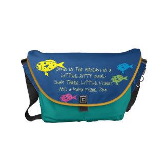 Glückliche Kinderdesigner-Taschen - Schultaschen Kuriertasche