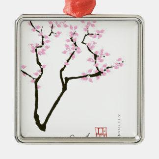 glückliche Kirschblüte und rosa Goldfisch, tony Silbernes Ornament