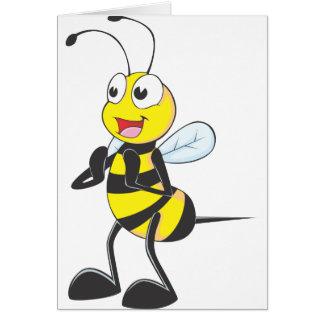 Glückliche klatschende Biene Grußkarte
