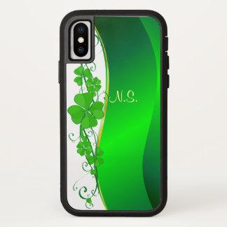 Glückliche KleeblattgoldImitat-Glitterwelle iPhone X Hülle