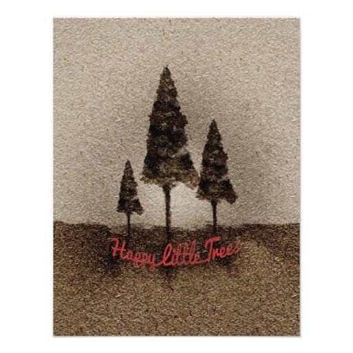 Glückliche kleine Bäume Individuelle Einladungskarte