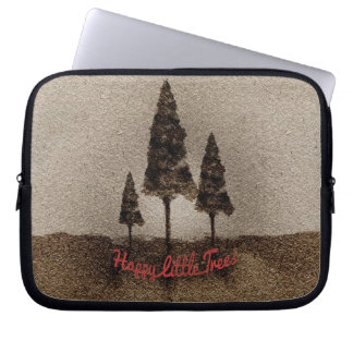Glückliche kleine Bäume Laptop Sleeve Schutzhülle