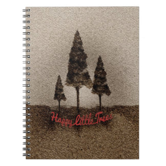 Glückliche kleine Bäume Notiz Buch