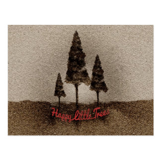 Glückliche kleine Bäume Postkarte