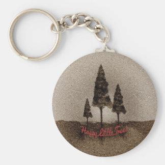 Glückliche kleine Bäume Schlüsselbänder