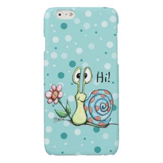 Glückliche kleine Schnecke sagt hallo! iphone 6s