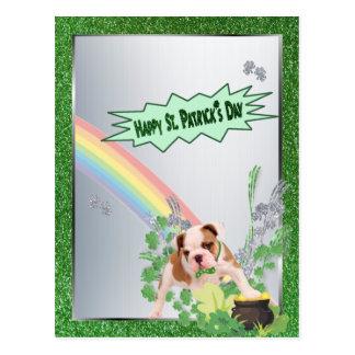 Glückliche kleine Version St. Pattys der Postkarte