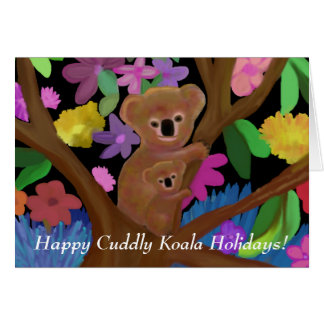 Glückliche knuddelige Koala-Feiertags-Karte Karte