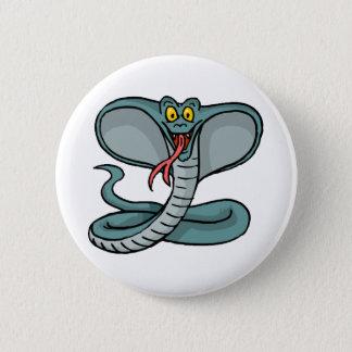 Glückliche Kobra Runder Button 5,7 Cm