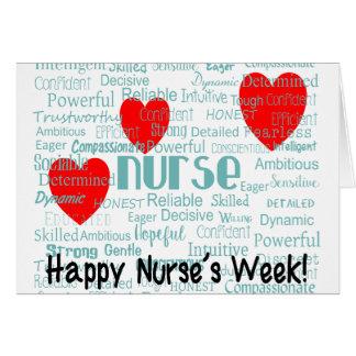 Glückliche Krankenschwester-Wochen-Gruß-Karte Karte
