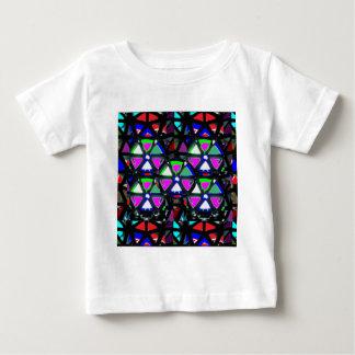 GLÜCKLICHE Kunst-Anlass-Blumen-Sterne rosa NVN703 Baby T-shirt
