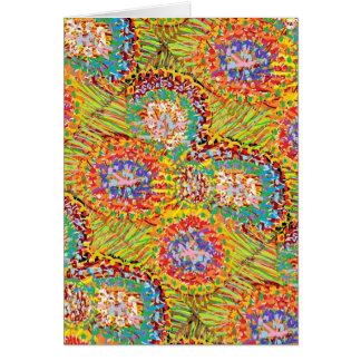 GLÜCKLICHE Kunst: Blumen-abstraktes Muster Karte