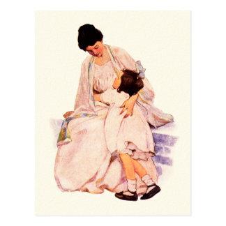 Glückliche Kunst-Postkarten der Mutter Vintage Postkarte