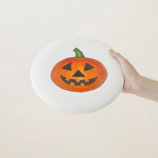 Glückliche Kürbis-Jack o Laterne Halloweens orange Wham-O Frisbee