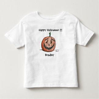Glückliche Kürbislaterne-kurzes Kleinkind T-shirt