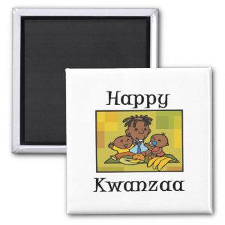 Glückliche Kwanzaa-Familie Magnets