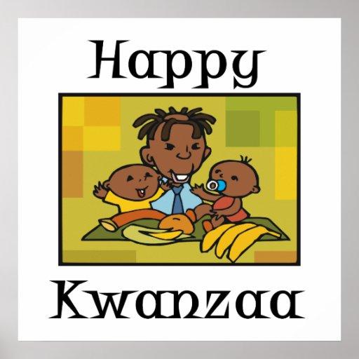 Glückliche Kwanzaa-Familie Plakate
